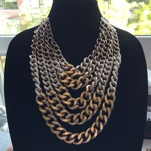 Jewelry - Large Chain Link Gold Layered Necklace